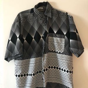Men's Vintage Button Up Short Sleeve